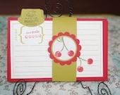 Cute Cherries Recipe Cards Set