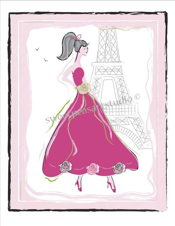 Fashion Paris Bath Art Prints For Bathroom Shower Wall Decor