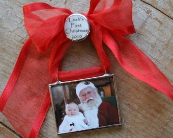 Custom Photo Ornament, First Christmas Ornament, My First Christmas Ornament, Newlywed Photo Ornament,