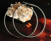 Closeout Silver plated large circular hoop, one pair (item ID SPLCHB)