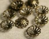 Antique brass bead cap 8mm, 36 pcs(item ID YWABXH401004-0.3)