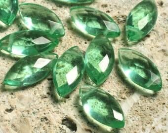 Green quartz faceted marquise 15x7mm, 8 pcs (item ID L02GQFM15x7)