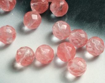cherry quartz faceted round 6mm, 24 pcs (item ID L01CQFR6)