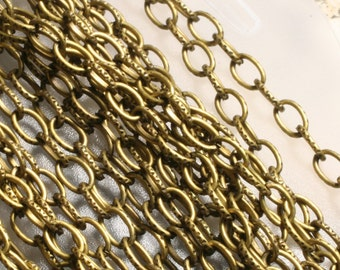Antique brass cable chain 5x2.5mm, pack of 5 meters (16.4 ft)(item ID F1782CH)