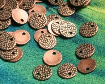 Antique copper drop 7mm, 30 pcs (item ID F1966FY)