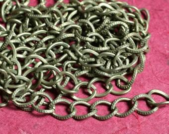 10 FT Antique brass large textured diamond link chain (item ID YWAB128N)