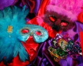Mardi Gras Masks - 11x14 Signed Photograph - Fat Tuesday Colorful Masks Celebration Louisiana