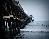 San Clemente Pier and  Surfers - 11x14 Fine Art Photographic Print