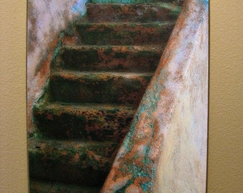 The Turquoise Door - 18x28 Fine Art Galler Wrap Canvas - Limited Edition of 50