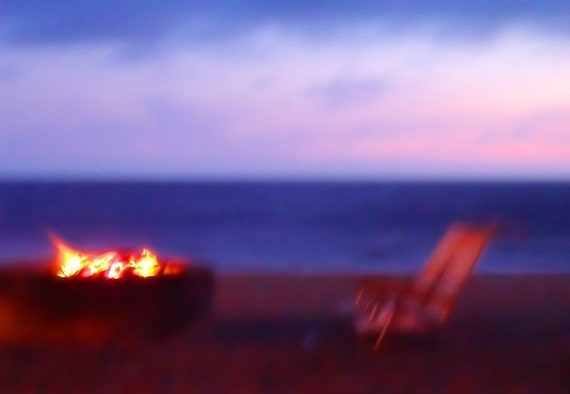 Beach Chairs and Firepit - 8x12 Fine Art Photographic Print