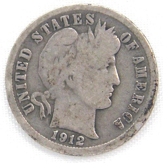 1912-D US Barber Dime