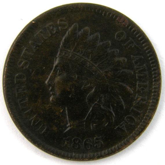 1865 US Indian Head Cent Fancy 5