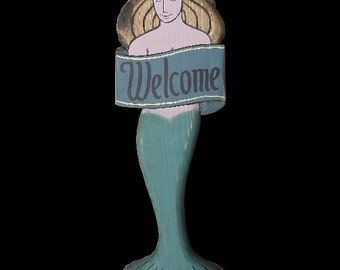Mermaid With Banner, 3 ft.