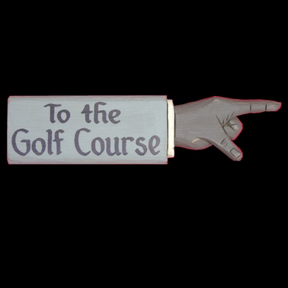 Golfing, To the Golf Course Pointing Hand