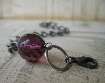 faceted - grape bracelet