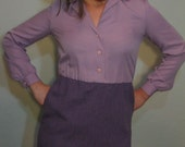 SALE: Sassy Secretary or Naughty Librarian Dress in Lavender - Size S