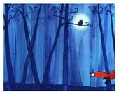 Fox On A Midnight Run - Childrens Art Print