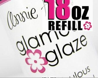 HUGE Bottle of Glamour Glaze. The best glaze for Scrabble and Glass Pendants. 18 ounce refill bottle.