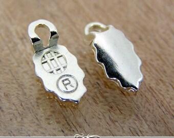 24 EARRING BAILS - Silver Plated Aanraku Glue Pad Earring Bails