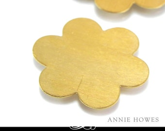 Flower Shaped Brass Metal Blank for Metal Stamping. Pack of 5. MET-440.20
