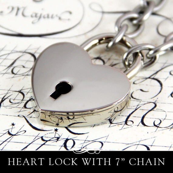 Heart Lock with 304 Stainless Chain Bracelet.