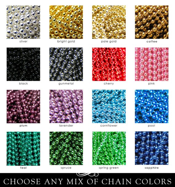 Colored Ball Chain Necklaces/1.5MM/18 Great Colors - You Choose/Mix n Match/Best Quality 50 Pack