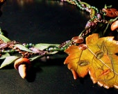 25%  and Free Shipping woodland frolic nature and fantasy necklace ooak faerie couture