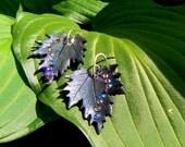 Spring Bling Maple leaf earrings