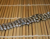 Vintage 4-row Deco Rhinestone Bracelet FREE SHIPPING WITHIN US