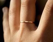 Gold Stacking ring, hammered stacking ring, 14k gold filled stacking ring, 14k gold fill stackable ring, delicate gold ring