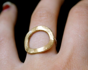 Brass infinity ring with sterling silver band