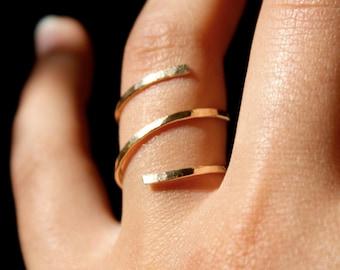 Gold Hammered Spiral ring, 14k gold fill spiral ring, 14k gold filled wrap ring, gold spiral ring, gold spiral ring, minimalist gold ring