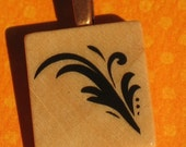 Feather - Scrabble Tile Pendant Necklace