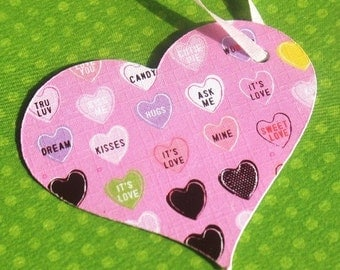 Candy Hearts - Valentine Gift Tags