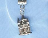 Silver Castle Lrg Hole Bead Fits All European Style Add a Bead Charm Bracelet Jewelry Pnd-Fan06