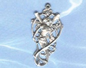 Sterling Fairy Mermaid Charm Pendant Exotic Silver FREE SHIPPING FAY056