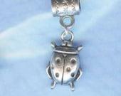 Silver Ladybug Lrg Hole Bead Fits All EuropeanStyle Add a Bead Charm Bracelet Jewelry PND-Anm069