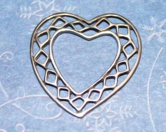 Filigree Floating Heart Jewelry Sterling Silver Cn-Z1203