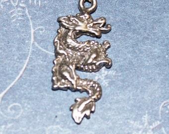 Dragon Pendant Sterling Silver Fantasy Jewelry Fan25