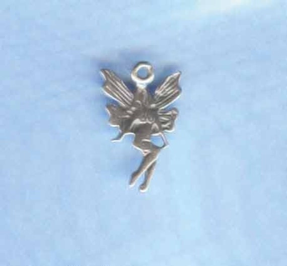 Sterling Tiny Fairy Charm Adorable FAY2045