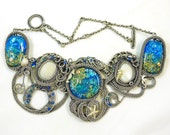 Oceania - A Lampwork and Wire Art Necklace