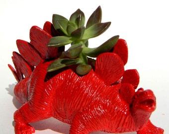 Jurassic World Dinosaur Planter Red for Succulent Plant Dorm, Home, Office Decor