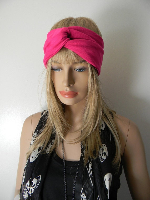 New Berry Pink Turban Headband Head Wrap TOP SELLER