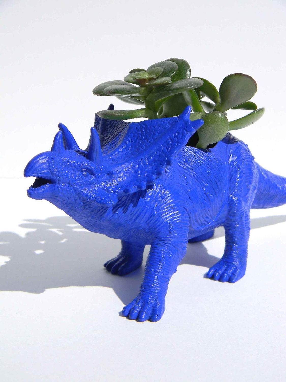 Dinosaur Planter Succulent Planter Triceratop By Crazycouture