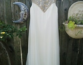 Wishing Moon SALE ... Completely Amazing White Aurora Borealis Crystal Vintage Dream Gown ...