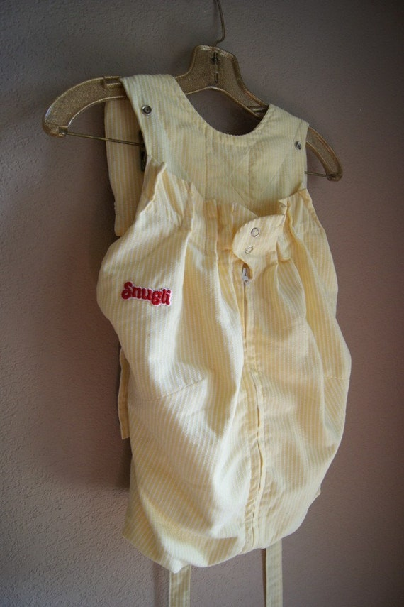 Items Similar To Vintage Snugli Baby Carrier White And