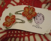 Red Poppy Christmas Clippies