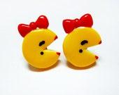 Mrs Pacman Post Earrings