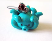 Turquoise Blue Octopus Cell Phone Charm