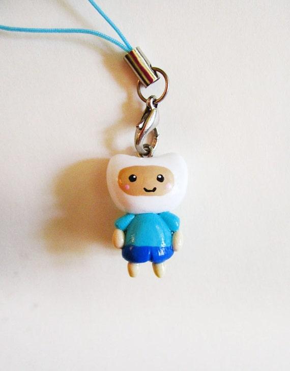 Adventure Time Finn Cell Phone Charm